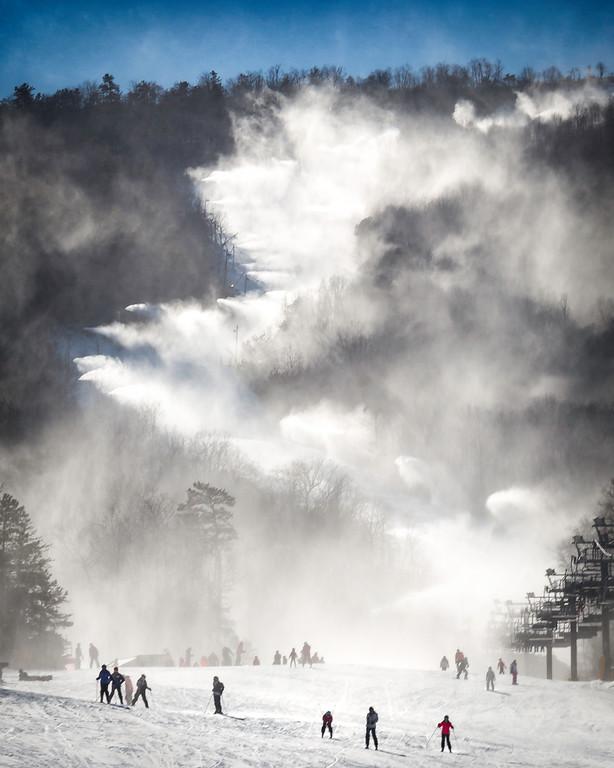 Snow Guns on Massanutten Mountain