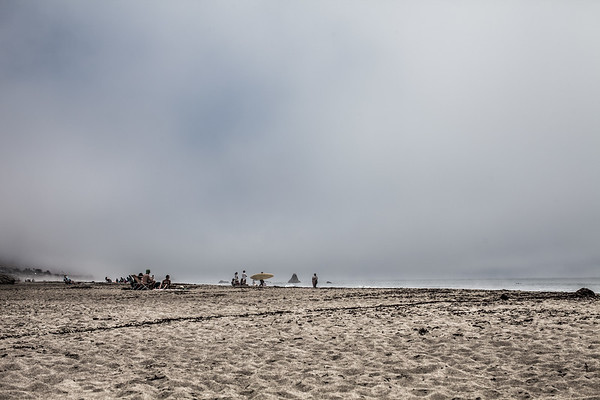 Beachgoers, Central Coast of California