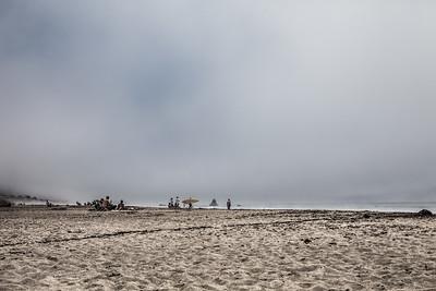 Beachgoers, Central Coast of California