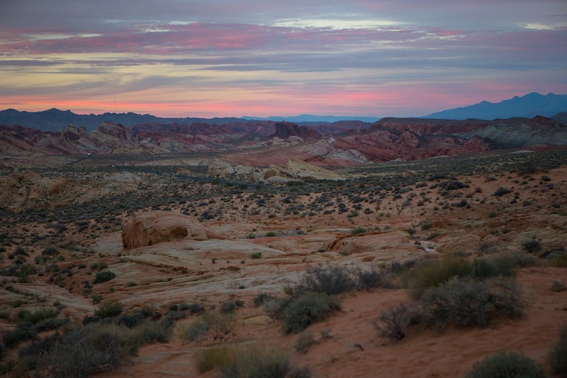 Valley of Fire at Blue Hour