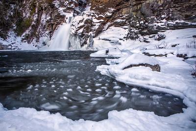 Snowy Linville Falls
