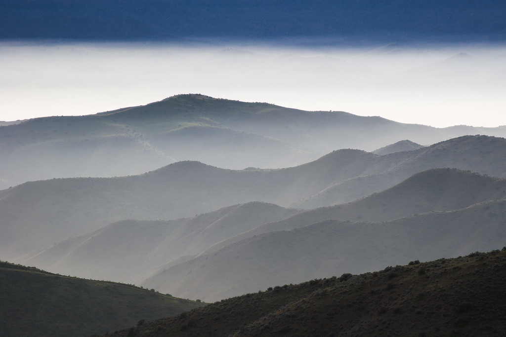 Layers of Hills, Central California