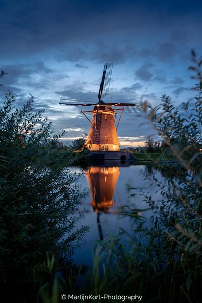 Kinderdijk mill framed