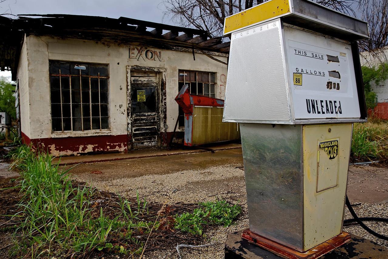 Exxon Service Station. Eden, Texas