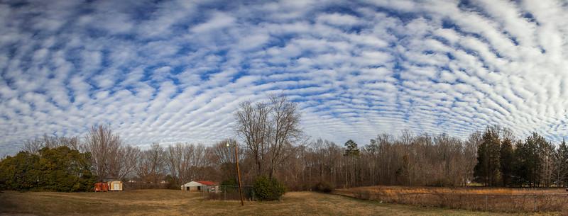 Altostratus Radiatus Clouds
