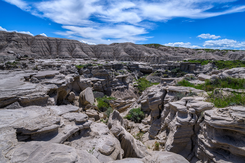 Landscape in Toadstool Geological Park in northwestern Nebraska