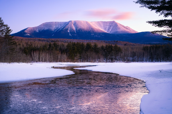 Katahdin Winter Reflection