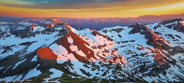 Spring Sunset....Elk Mountains, CO