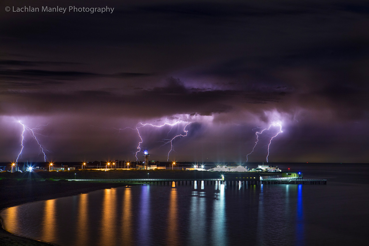 Queenscliff Ferry Terminal Lightning