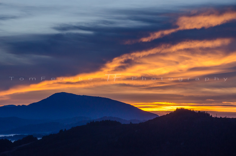 Mary Peak Sunset