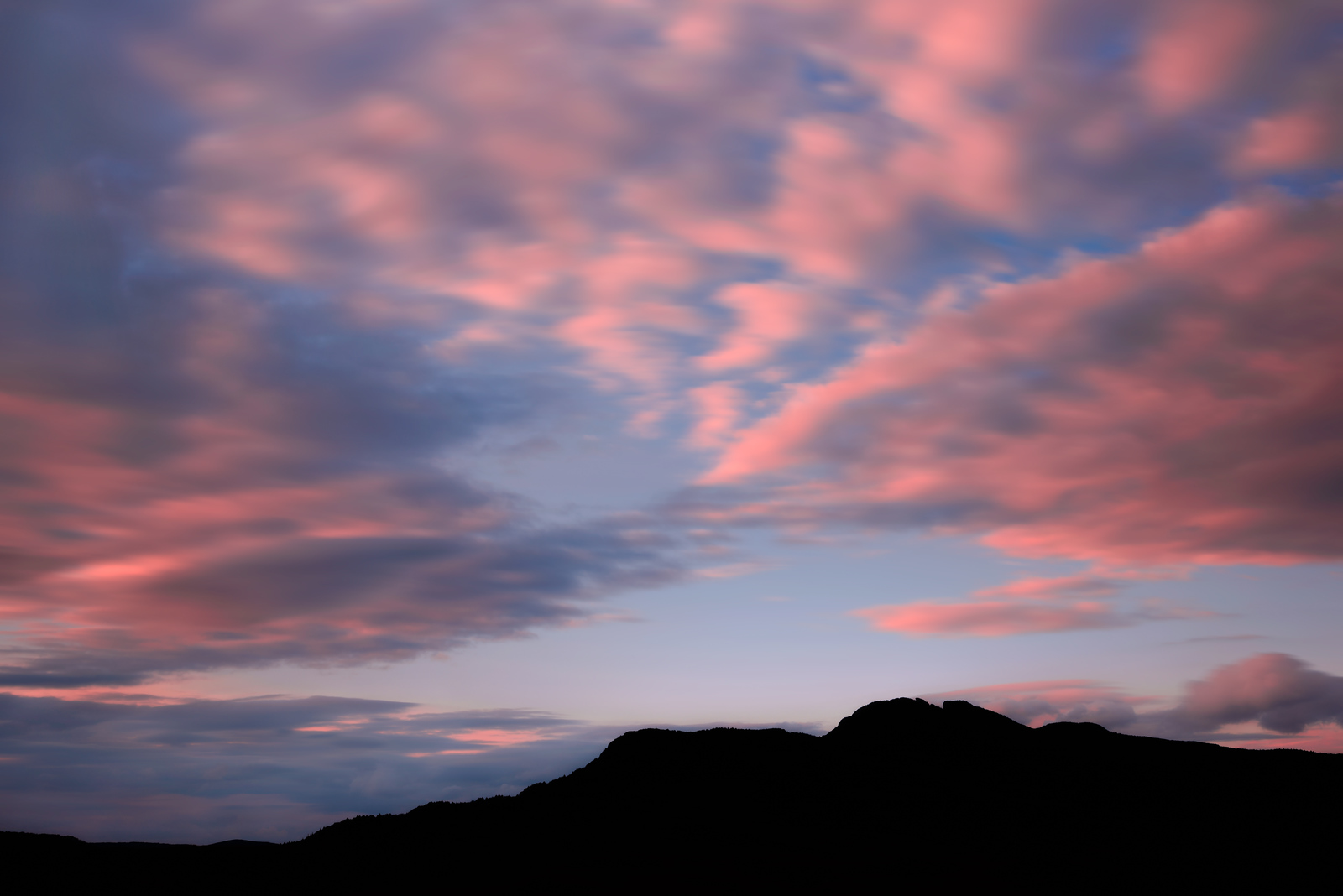 Moving Sunset of Grandfather Mountain