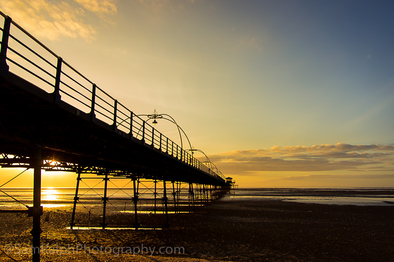 Southport pier at Sunset.