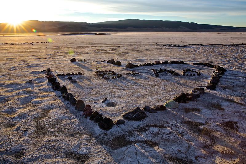 Alkali Heart #1.  Nevada Desert, East Of Reno.