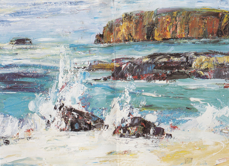 Peter McLaren, Orkney Landscape, Oil on Board, 48 x 36 inches