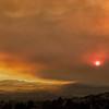 Smoky Sunset over Fountaingrove