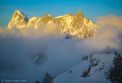 Sunrise on the Grand Jorasse Massif....Chamonix, France