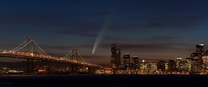 San Francisco & Comet Neowise Composite