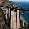 From the Bixby Bridge and out to sea