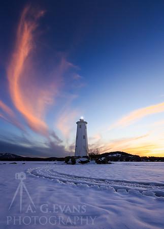 Loon Island Light Sunset