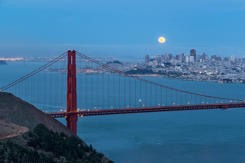 Full Moon over the Golden Gate