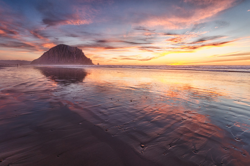Morro Rock Golden Sunset