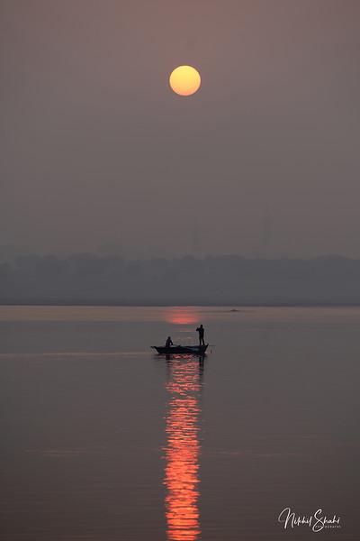 Sunrise over the Ganges, Varanasi, India