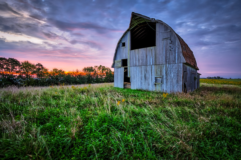 Old Barn Sunrise
