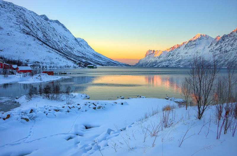 Sunrise near Tromso, Norway