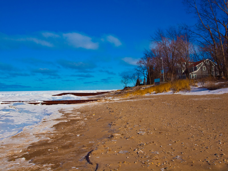 Southern point of Lake Huron at Sarnia Ontario.  Thanks everyone for the great comments.