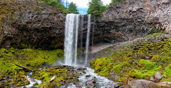 Tamanawas Falls Panorama - Mount Hood