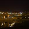 Wabasha Bridge with night city lights