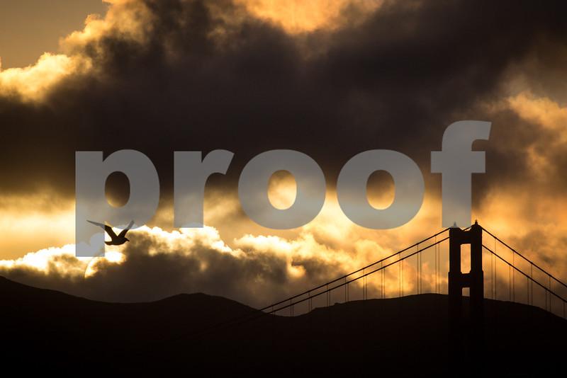 Day #143 - Sunset on the Golden Gate Bridge