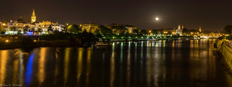 Moon Rise Over Seville
