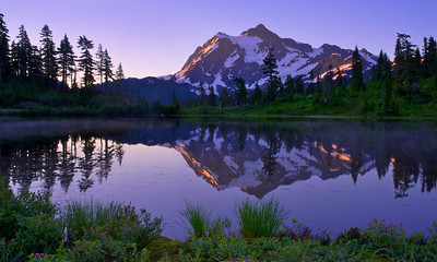 Mount Shuksan Reflected in Picture Lake – Mount Baker Wilderness Area, Washington