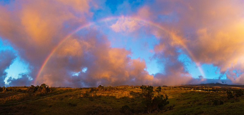 Sunset Rainbow Pano