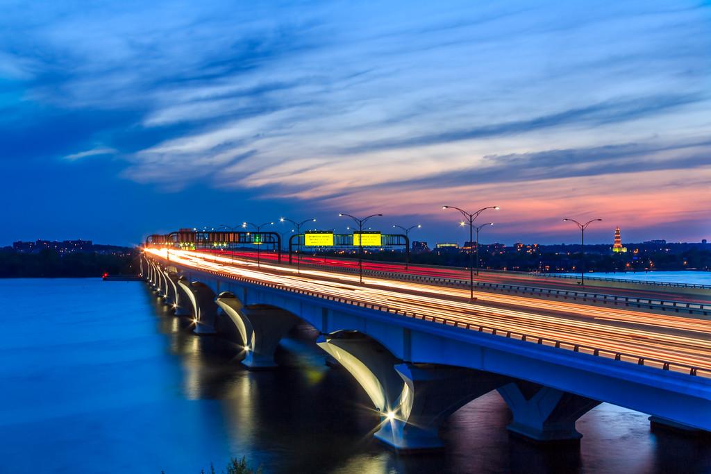 Woodrow Wilson Bridge at Sunset