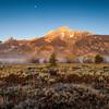 Moon Over Grand Teton