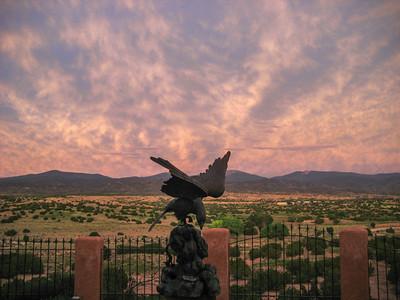 Japanese Eagle Against a Striated Sky