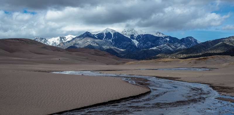 Sand And Snow, Great Sand Dunes National Park, CO