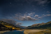 Moonlight on waimakariri River, Arthur's Pass, new zealand