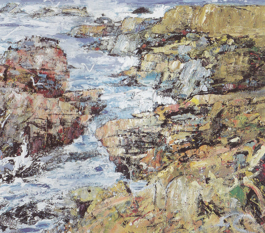 Peter McLaren, Skipi Geo, Orkney. Oil on Board, 48 x 48 inches. Collection of Andrew & Pamela Taylor