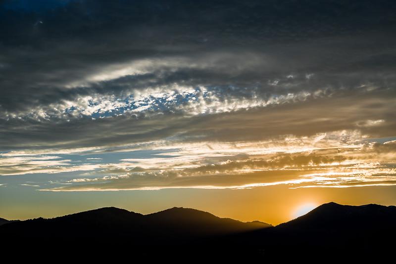 South Park Sunset, near Jackson Hole Wyoming 2016