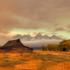 Mormon Barn On a Cloudy Sunrise