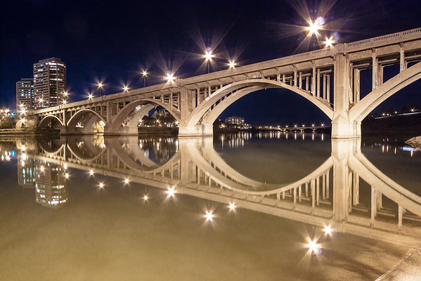Broadway Bridge at Night