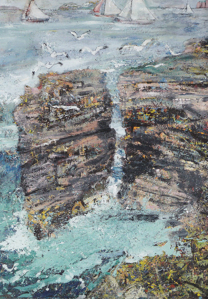 Peter McLaren, Skipi Geo, Orkney, Oil on Board, 66 x 48 inches