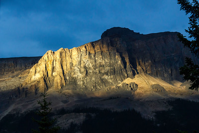 Wapta Mountain at Sunset