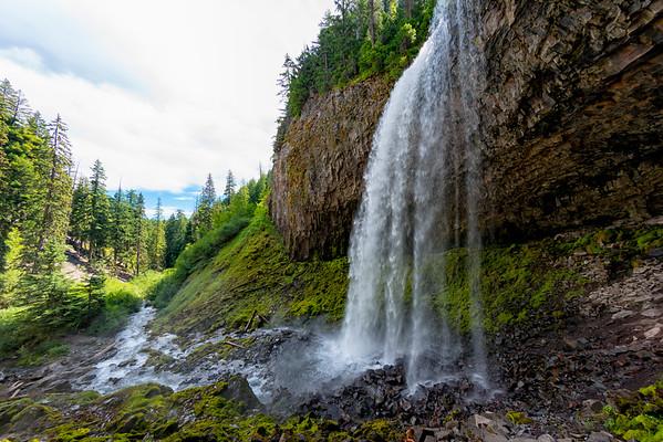 Tamanawas Falls Fish Eye - Mount Hood-13