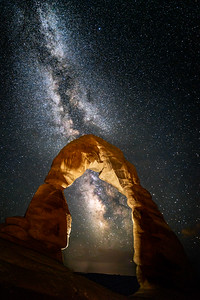 Milky Way over Delicate Arch, Utah