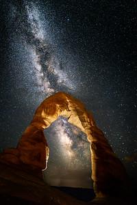 Milky Way over Delicate Arch, Utah