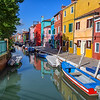 Canal on the island of Burano, Italy